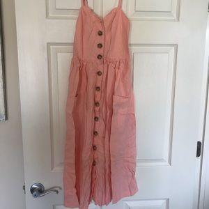 Urban outfitters Pink button up summer dress